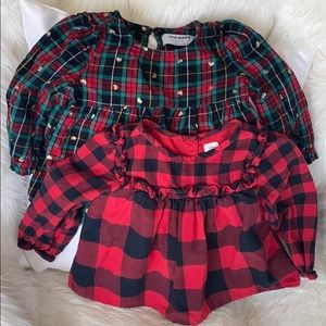Holiday Tops Baby Girl Gap /Old Navy 18-24 mos